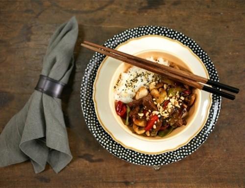Receita de picadinho oriental com arroz moti