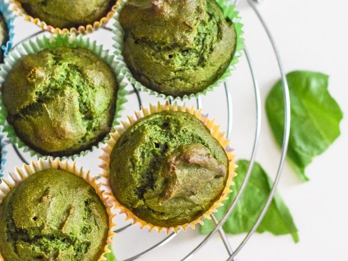 muffins de espinafre e atum