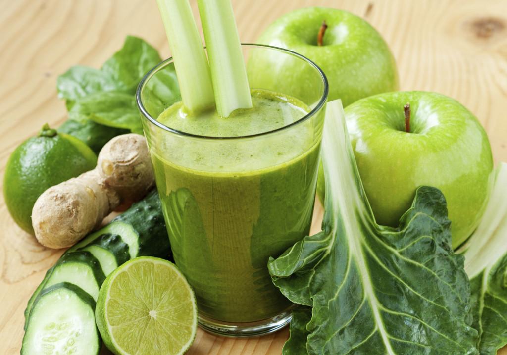 receita de suco verde com couve e maçã
