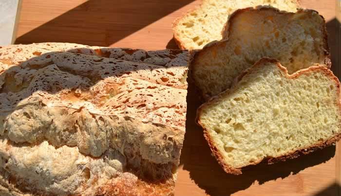 pão de farinha de grão de bico