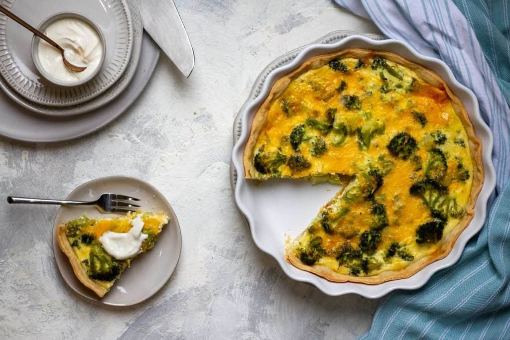 receita de quiche light com iogurte natural